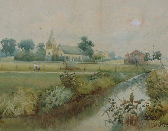 Watercolour of Christ Church